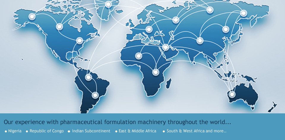 Pharma Machines Delivery across the globe